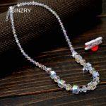 SINZRY <b>jewelry</b> imported crystal geometry chokers necklaces luxury 925 sterling silver DIY <b>handmade</b> glass crysal bridal <b>jewelry</b>