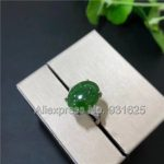 1pcs 925 silver Natural Green HeTian YU Inlay Ring adjustable <b>Handmade</b> Beauty Design Lucky Ring + certificate Fashion <b>Jewelry</b>