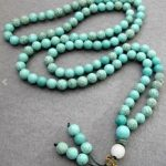 Tibetan <b>handmade</b> <b>jewelry</b> 108 Howlite 6mm Imitated Blue stone Stone Charm Buddhist Prayer Beads Japas Mala silver