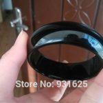 20-22mm Wide Natural Black Wider Pretty Bangle <b>Handmade</b> Woman's Bracelet Fashion Bangles Fine <b>Jewelry</b> 57-62mm