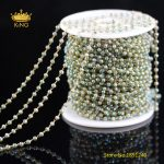 5meters Tiny Faceted Rondelle Glass Chains <b>Supplies</b>,2x3mm Green AB Titanium Glass Rosary Chains Findings <b>Jewelry</b> Wholesale HX192