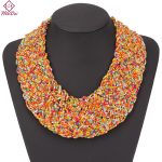 Heeda Bohemia Hyperbole Seed Beads Layered Necklace for Women Black Neck <b>Accessories</b> Kpop Fashion Big Name Statement <b>Jewelry</b>