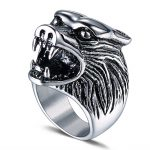 Punk Men Ring 316L Stainless Steel Cool Wolf Punk Biker Ring <b>Antique</b> Men <b>Jewelry</b>