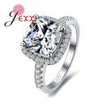 JEXXI Luxury 925 Sterling Silver <b>Wedding</b> Engagement Rings Stone Cubic Zirconia <b>Jewelry</b> For Bridal Ring <b>Jewelry</b>