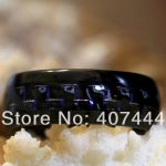 Free Shipping YGK <b>JEWELRY</b> Hot Sales 8MM Black/Blue Carbon Fiber His/Her Black Dome Tungsten Carbide <b>Wedding</b> Ring