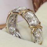 choucong Eternity <b>Jewelry</b> Stone 5A Zircon stone 10KT White&Yellow Gold Filled Women Engagement <b>Wedding</b> Band Ring Sz 5-11