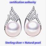 Fashion celebrities Pearl Earrings For Women Diamante Freshwater Pearl With Princess Style Silver Earrings <b>Wedding</b> <b>Jewelry</b>