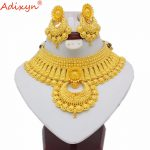 Adixyn Indian Big Heavy <b>Jewelry</b> Sets For Women Gold Color Long <b>Necklace</b>/Earrings African/Dubai/Arab Wedding <b>Jewelry</b> Gifts N06088