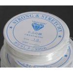 4 Meters Spool of Crystal Clear Strong & Stretchy Elastic Beading Thread Cord Wire <b>Jewellery</b> Necklaces Bracelets 1mm