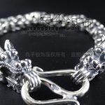 ChingMai Thailand handmade sterling <b>Silver</b> pirate Men 925 vintage thai <b>silver</b> double pure <b>silver</b> <b>bracelet</b>