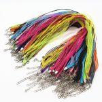 100pcs/lot Mix Color Satin Ribbon String Cord Necklace Chains 18″ Strap Wholesale Parts <b>Jewelry</b> <b>Making</b> Supplies Bijoux Fittings