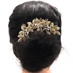 4.7″ New <b>Fashion</b> Gold Leaves Flower Wedding Hair Comb Clear Rhinestone Crystal Bride Hair Accessories Women <b>Jewelry</b> XBY688GCL
