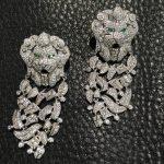 925 <b>sterling</b> <b>silver</b> with cubic zircon dangle earring lion drop earring fashion women <b>jewelry</b> party earring free shipping