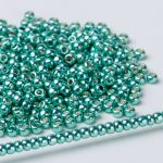Japanese Round Seed Beads 554 Permanent Finish Galvanized Green Teal Glass Beads For <b>Native</b> <b>American</b> <b>jewelry</b> Finding 5 grams/lot