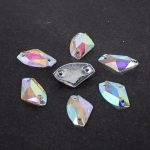 Ax Type Resin Sew On Crystal AB Flatback Beads 8.5x14mm 11.5x19mm 100pcs For Dress <b>Making</b> DIY Beads New Crystal Beads