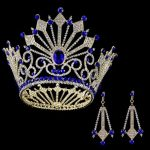 Luxury Beauty Show Big Crown Round King Princess Queen Crowns Large Tiara World Miss Baroque Bridal Hair <b>Jewelry</b> for Women Head