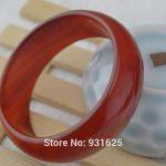 Beautiful 20-22mm wide Natural Red Bangle <b>Handmade</b> Woman's Bracelet Fashion Red Bangles Fine <b>Jewelry</b> 57-62mm
