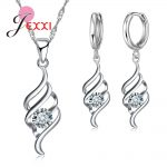 YAAMELI <b>Jewelry</b> Sets For Women Charms Pendant Necklace Hoop Earring <b>Fashion</b> Classic Collares 925 Sterling Silver Wedding Gift