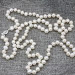 Fashion necklace pearl <b>jewelry</b> <b>making</b> 7-8mm natural pearls white beads for women long chain charms high grade gifts 36inch B3239