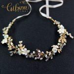Free Shipping Czech Sparkly Crystal Women Forehead Headband Chain Headpiece Shell Flower Bridal <b>Wedding</b> Hairbands Hair <b>Jewelry</b>