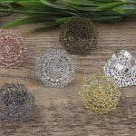 100pcs 32mm Flower Pad ring blank Cameo Tray,Bronze/Gold/Silver Ring setting,<b>Handmade</b> DIY Zakka <b>jewelry</b> Finding