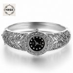 2017 New Arrival Limited Classic S925 <b>Silver</b> Jewelry Watch Fine Jewelry Pure Thai <b>Silver</b> <b>Bracelet</b> Watches Rhinestone Bangle