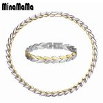 Stainless Steel <b>Jewelry</b> New <b>Fashion</b> Leaf Design Gold Color Chain Necklace/Bracelet <b>Jewelry</b> Sets For Women Valentine's Day Gift