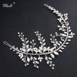 Miallo 2018 Newest Simple Original Women Headbands Austrian Crystal Hair <b>Jewelry</b> <b>Handmade</b> Silver Color Metal Bride Accessories