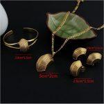 Sky talent bao NEW Ethiopian Cross <b>Jewelry</b> Sets 24K Gold GF Fashion African Traditional Set Boat Semi-circle