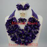 Nigerian Wedding African Beads <b>Jewelry</b> Set Blue African Costume <b>Jewelry</b> Sets Coral Beads <b>Necklace</b> Sets Free Shipping HD330-2