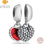 WYBEADS 100% 925 Sterling Silver Charms Monther Daughter Pendant European Bead For Snake Chain Bracelet Original <b>Jewelry</b> <b>Making</b>