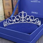 Top Quality European Style Fashion <b>Jewelry</b> Cubic Zirconia Tiaras Bride Crown <b>Wedding</b> Hair Accessories Factory Direct H-018