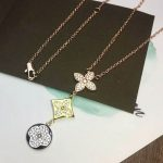 Brand High quality titanium steel <b>Jewelry</b> For Women Drop Flower Necklace Cubic Zirconia 4 Clover Necklace Party <b>Silver</b> <b>Jewelry</b>