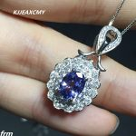KJJEAXCMY boutique <b>jewelry</b>,925 <b>Silver</b> Tanzanite Tanzanite Pendant 1 Carat Tanzanite Sapphire Pendant Send the chain