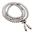 Real 925 <b>Sterling</b> <b>Silver</b> Multi Layers Round 108 Beads Bracelet For Women Buddhist Handmade DIY Beaded <b>Jewelry</b>
