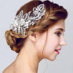 Gorgeous pearl hair comb floral bridal headband women pearl <b>jewelry</b> hairband hair ornaments bride tiara <b>wedding</b> accessories