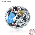 INBEAUT Women <b>Jewelry</b> <b>Making</b> 100% Real 925 Sterling Silver Ocean Sea Crab Shell Fish Beads fit Pandora Bracelet DIY Gift