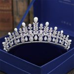 <b>Wedding</b> Crown Bridal Tiaras and Crowns full Cubic Zirconia Silver Color Hair Crown for Women 2018 New Hair <b>Jewelry</b> Accessories