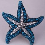 Starfish stretch ring summer fashion <b>jewelry</b> gifts for women <b>antique</b> silver color W crystal wholesale dropship