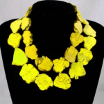 Elegant Choker Woman <b>Jewelry</b> Bling Yellow stone Slice Necklace <b>Handmade</b> Gift Exaggerate Woman <b>jewelry</b> Charm