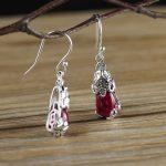 Hot Sale 925 <b>Sterling</b> <b>Silver</b> Ethnic Drop Long Earrings for Women Fine <b>Jewelry</b> Flower <b>Silver</b> Hanging Earrings Set Earings