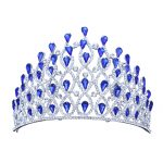 New Crystal Crown Tiara <b>Wedding</b> Hair Accessories Bride Statement Big Prom King Round Elegant Queen Pageant Hair <b>Jewelry</b>