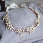 Stunning Freshwater Pearls Headband Bridal Hair Vine <b>Jewelry</b> Gold Wedding Headwear Hair Accessories Rhinestone Women Headwear