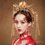 Phoenix Wedding Hair <b>Jewelry</b> Chinese Style <b>Handmade</b> Red Crystal Bridal <b>Jewelry</b> Animal Headdress Tassels Hair Accessories