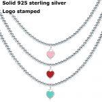Heart Shaped Necklace For Women Blue&Pink Pendant High Quality 925 Silver Brand Tiff Design Elegant <b>Weddings</b> <b>Jewelry</b> Gift w/logo