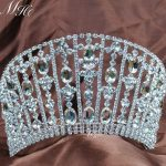 Royal Queen Tiaras Large Rhinestones Crystal Crowns Wedding Bridal Pageant Prom Party Costumes Silver Plated Hair <b>Jewelry</b>