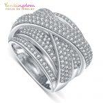 Yunkingdom new fine rings for women luxury <b>wedding</b> party <b>jewelry</b> rings M0379