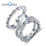 <b>Wedding</b> Ring Sets For Women 12mm 6.5 CT Hearts And Arrows Cubic Zirconia 925 Sterling Silver <b>Jewelry</b> (JewelOra RI102336)