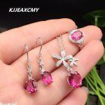 KJJEAXCMY Fine jewelry, Multicolored jewelry 925 <b>silver</b> inlay natural Topaz powder set simple wholesale Ms