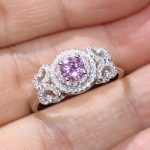 Size 5-11 <b>Handmade</b> Luxury <b>Jewelry</b> 100% Real 925 Sterling Silver Round Cut 5A Pink Cubic Zirconia CZ Women Wedding Butterfly Ring
